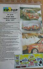 DECALS 1/43 REF 479 FIAT CINQUECENTO ABARTH ROBERT RALLYE MONTE CARLO 1997 RALLY