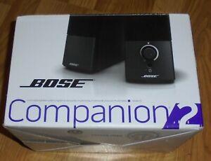 Bose - Companion 2 Series III Multimedia Laptop Computer Speaker System Open Box