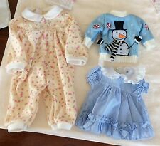 Doll clothes, dress, sweater and pajamas