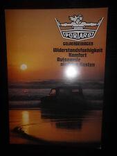 Prospekt sales brochure Portaro todoterreno militar auto машина car Portugal