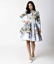 NEW 1X Bernie Dexter clothing Winter Wonderland Dress pinup girl Snow Chateau 2X