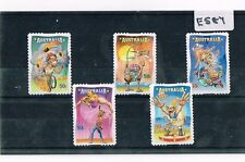 Australia 2007 Circus 5 Values Peel and Stick  Fine Used    E587