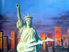 """New York: """" Rock Liberty """" Musik - Poster - 80er Jahre-Nachlass"""