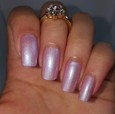 PEARL PINK w/ Holographic Glitters Nail Polish 5-free handmade cute cruelty free
