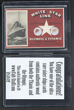"TITANIC COLLECTION (2012) DUAL WOOD ""SISTER SHIPS"" CARD TITANIC & OLYMPIC (1/20)"