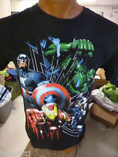 Mens Mad Engine Marvel Brand Avengers Shirt NWT L