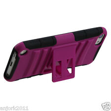 Apple iPod Touch 5 ADV ARMOR HYBRID CASE SKIN COVER STAND ACCESSORY HOT PINK