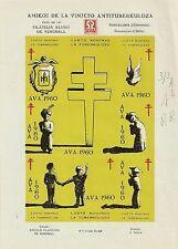 STAMP SPANISH ESPAGNE / VIGNETTE / AMIGOS DE LA VINETA ANTITUBERCULOSA 1960