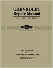 Chevrolet 8.5x11 Shop Manual 1918 1919 1920 1921 1922 1923 1924 Chevy 490 Repair