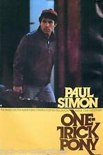 Paul Simon 1980 One Trick Pony Promo Poster Original