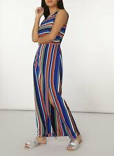 Womens New Branded Stripe Maxi Dress Size 8 (this will fit a size 10 wearer)