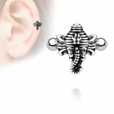 Helix Tragus Piercing Indian Elephant Shield 1,2 x 6 mm 2 Pieces Ear Piercing