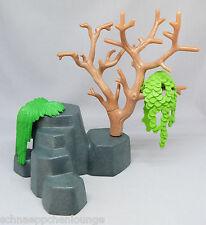Playmobil (Klicky)  ** 1 kleiner Felsen mit Baumstamm und Hängepflanzen