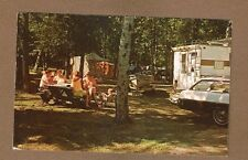 Camping in State Park, DOOR COUNTY, WI Wisconsin truck camper, tent, table