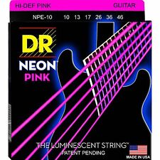 DR NPE-10 Neon PINK Elec Guitar Strings gauges 10-46