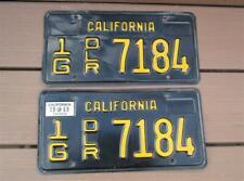 Vintage California Black & Gold DEALER License Plates 1963-1969 Years UBER RARE!