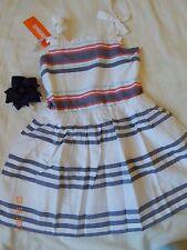 (2) Pc BNWT Gymboree Girls 5/5T Dress And Pony Holder Linen Nautical STRIPES