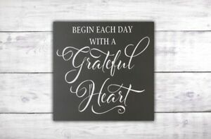 Be Grateful Sign | Positive Quote Sign | Motivational Sign | Mindfulness Gift