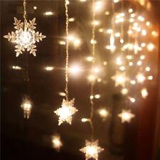 20-LED Christmas Snowflake Fairy String Lights Garden Wedding Party Decor Lamps