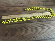 Vintage Bright Yellow Murano Glass Necklace Opera Length 46 inches long