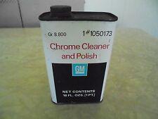 Vintage GM Chrome Polish Fluid FULL CAN 1PT Gas & Oil Advertising
