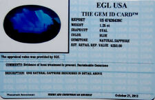 Egl Usa Tested&Certified Natural Oval Blue Sapphire 1.25Ct. Appraised $250!