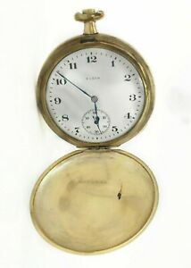 Vintage Elgin Pocket Watch for Scrap Parts Or Repairs - Gold Filled Case