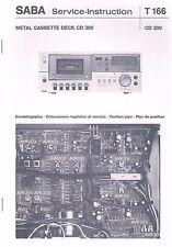 Saba CD 300 Cassette Deck Service Manual, Service Anleitung