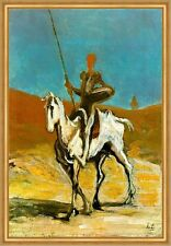 Don Quijote Honore Daumier campeón caballo jinete caballero soledad LW h a2 0040
