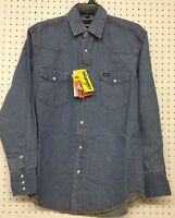 Wrangler ~ Men's Work Western Shirt ~ Stonewashed