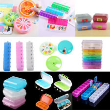 6-7 Day Week Plastic Pill Box Case Medicine Storage Organizer Dispenser Holder
