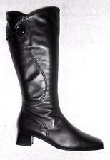 GABOR bottes zippées cuir noir doublure chaude  P 37½ (4) TBE