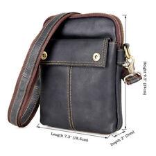 Mens Vintage Genuine Leather Messenger Crossbody Shoulder Bag For Travel Outdoor