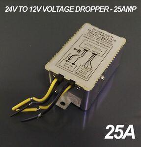 24v to 12v DC Voltage Dropper - 25A / 25AMP Max Current