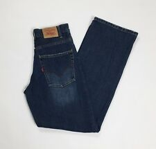 Levis jeans usato donna gamba larga loose W25 tg 38 39 vita alta boyfriend T3414