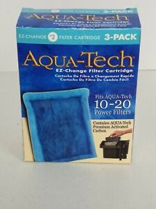 Aqua-Tech EZ-Change #2 Aquarium Filter Cartridge 10-20 Power Filters 3-Pack NEW!