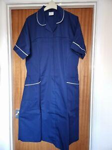 Ladies Frazerton Nurses Dress, Short Sleeves, Navy & White Piping Size 24, BNWOT