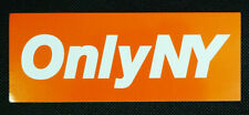 Only NY Orange & White Box Logo Promotional Sticker