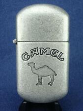 Vintage 97 Joe CAMEL Brushed Metal Flip Top Cigarette LIGHTER Mint/New/Old Stock
