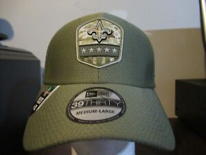 New Orleans Saints Salute to Service Fitted hat - Medium/Large nwt Free Ship