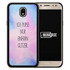 Samsung Galaxy J3 (2017) Handy Hülle SILIKON Ich Pupse Nur Einhorn Glitzer Past