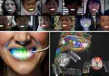 LED Light up Flashing Mouth Glow Teeth Halloween Party Rave Hot Decoration New E