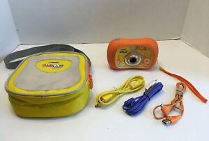 Vtech KidiZoom Digital Camera w/2x Zoom/Photo Editor/Orange Works & Bag/Cord