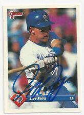 Autographed Signed 1993 Donruss #724 Jeff Frye Texas Rangers Tough Signature