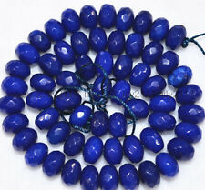New 6x8mm Faceted Blue Sapphire Gemstone Abacus Loose Bead 15''