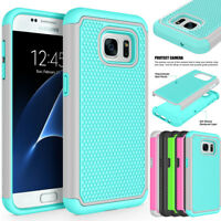 For Samsung Galaxy S7 Edge /S7 Armor Hybrid Shockproof PC Rugged Hard Case Cover