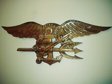 U.S NAVY SEAL TRIDENT WALL PLAQUE