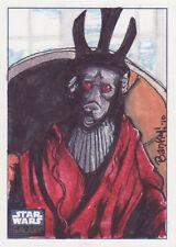 STAR WARS GALAXY 6 SKETCH CARD 1/1 BANKY FARANO - HARD TO FIND!