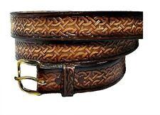 "1 1/4"" Celtic Medieval Renaissance Gothic Heavy Duty Work  Leather Belt & Buckle"