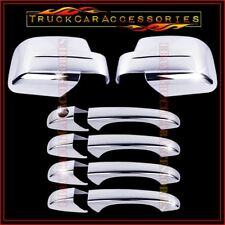 For JEEP Patriot 2008-2011 2012 Chrome Covers Set Full Mirrors+4 Doors WITHOUT
